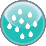 Water Droplets Icon